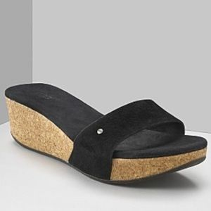 UGG Basil Cork Slip On Wedges